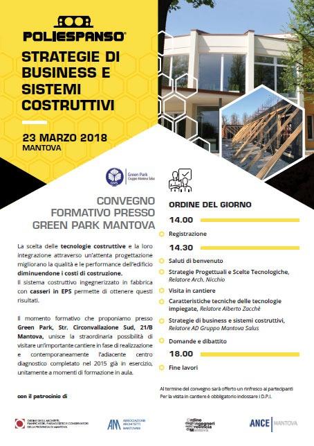 Flyer convegno formativo presso Green Park Mantova