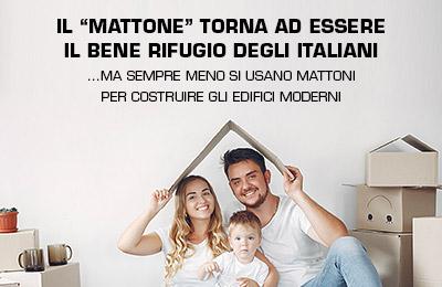 """Il """"mattone"""" torna ad essere il rifugio degli italiani"""