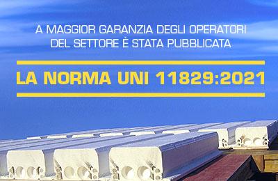 Pubblicata la Norma UNI 11829 2021